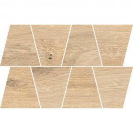 Gres szkliwiony GRAND WOOD NATURAL sand MOSAIC TRAPEZE mat 0,8 19x30,6 gat. I