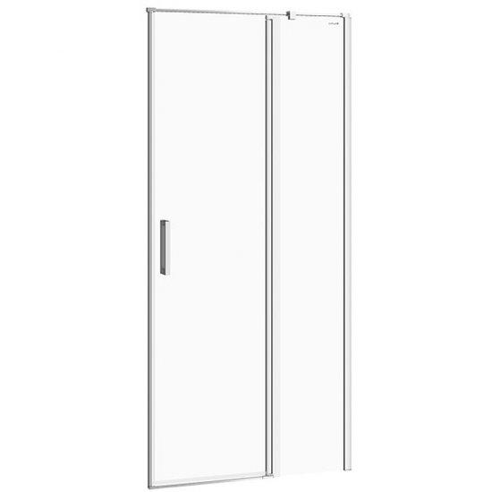 Drzwi na zawiasach kabiny prysznicowej MODUO 90x195 prawe transparentne