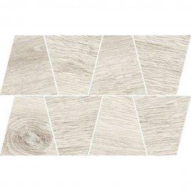 Gres szkliwiony GRAND WOOD PRIME white MOSAIC TRAPEZE mat 0,8 19x30,6 gat. I