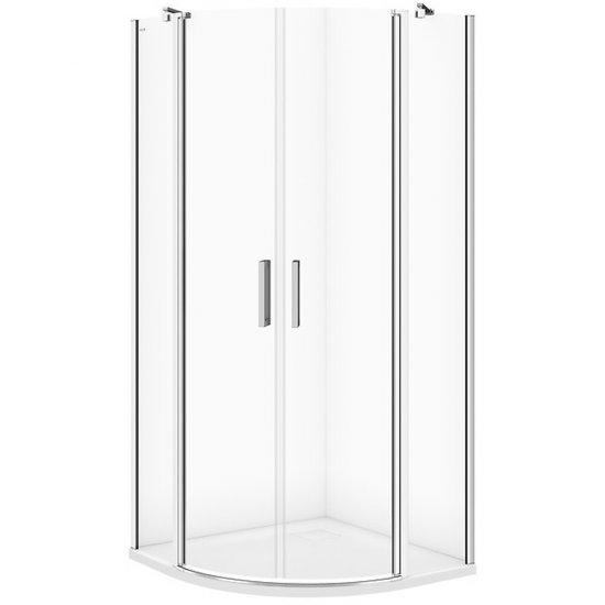 Kabina prysznicowa półokrągła MODUO 90x90x195 transparentne