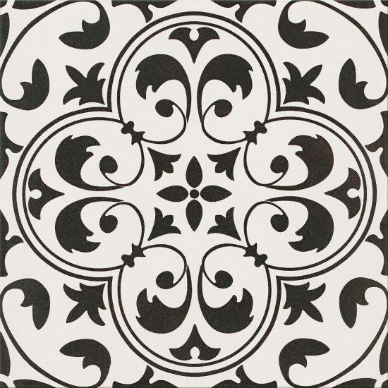 Gres szkliwiony PATCHWORK CONCEPT white-black naomi satyna 29,8x29,8 gat. I