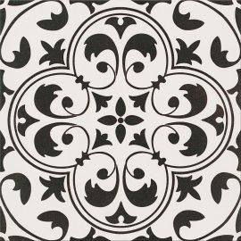 Gres szkliwiony PATCHWORK CONCEPT white-black naomi satin 29,8x29,8 gat. I