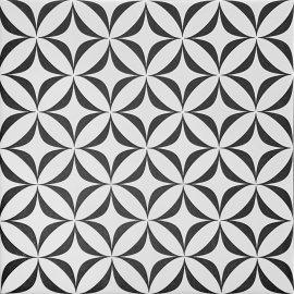 Gres szkliwiony PATCHWORK CONCEPT white-black vertigo satin 29,8x29,8 gat. I