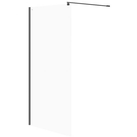 Kabina prysznicowa WALK-IN MILLE czarna 100x200 transparentne