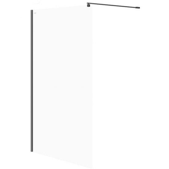 Kabina prysznicowa WALK-IN MILLE czarna 120x200 transparentne