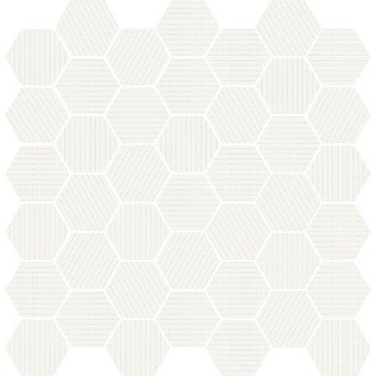 Mozaika gresowa MUZI white glossy 29x29,7 gat. I