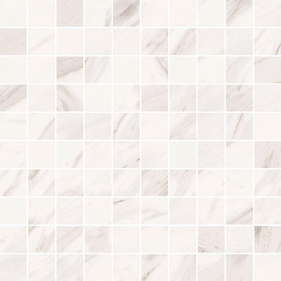 Mozaika gresowa MARBLE CHARM white glossy 29x29 gat. I