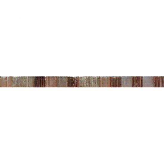 Płytka ścienna listwa mozaika CALIPSO brąz glossy 2,8x45 gat. I
