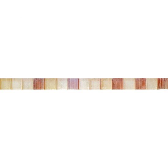 Płytka ścienna CALIPSO pomarańczowa listwa mozaika błyszcząca 2,8x45 gat. I