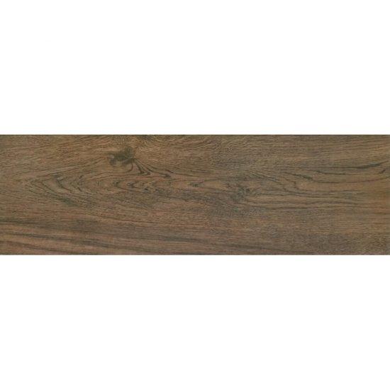 Gres szkliwiony WOOD SENSES brown mat 18,5x59,8 gat. I Cersanit