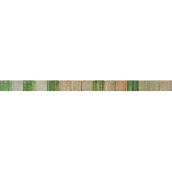 Płytka ścienna CALIPSO zielona listwa mozaika błyszcząca 2,8x45 gat. I