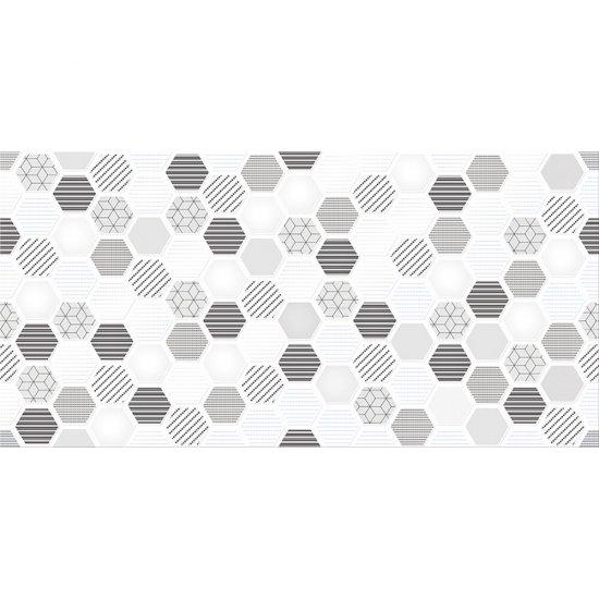Płytka ścienna inserto MUZI multicolour geo glossy 29,7x60 gat. I