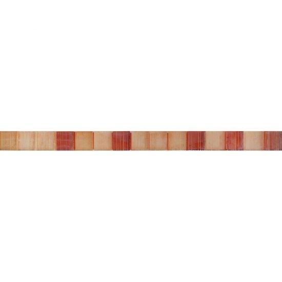 Płytka ścienna CAPRI brązowa listwa mozaika błyszcząca 5,5x50 gat. I