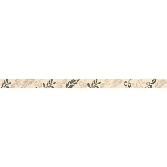 Płytka ścienna VALENTINA cream listwa kwiaty 3,5x59,3 gat. I