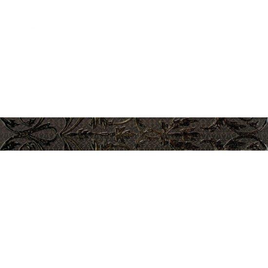 Płytka ścienna listwa VALENTINA grafit mat 7,5x59,3 gat. I