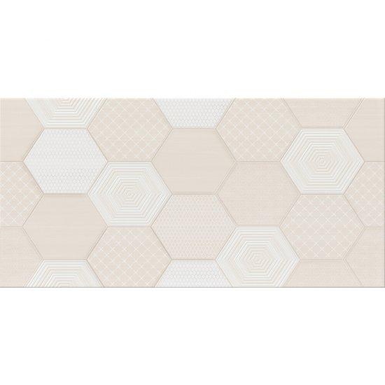 Płytka ścienna inserto TULISA cream geo glossy 29,7x60 gat. I