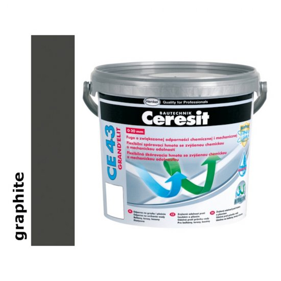Fuga elastyczna tarasowa 2-20 mm CERESIT CE 43 graphite 5 kg