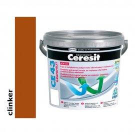 Fuga elastyczna tarasowa 2-20 mm CERESIT CE 43 clinker 5 kg