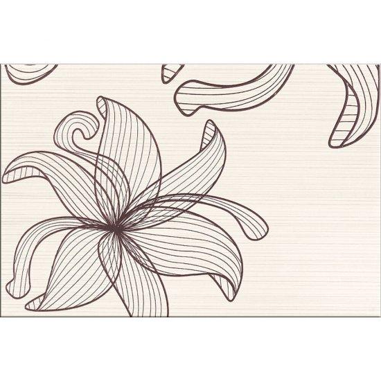 Płytka ścienna inserto LORENA cream brązowe kwiaty C glossy 30x45 gat. I