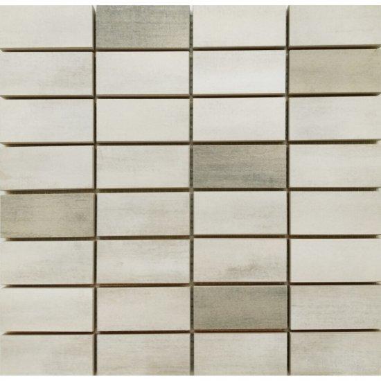 Gres szkliwiony mozaika FLOORWOOD white-beige mix glossy 29x29,5 gat. I