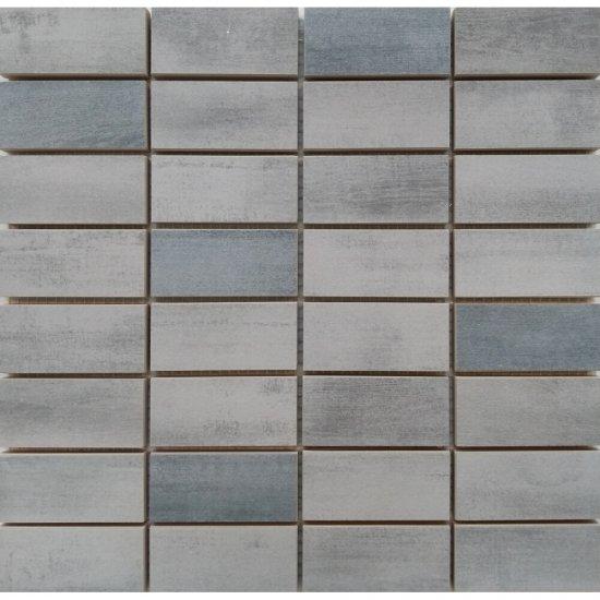 Gres szkliwiony mozaika FLOORWOOD grey-graphite mix glossy 29x29,5 gat. I