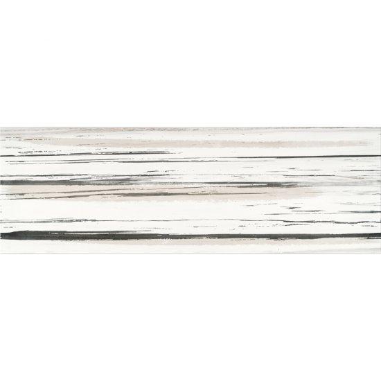 Płytka ścienna inserto ARTISTIC WAY white lines glossy 25x75 gat. I