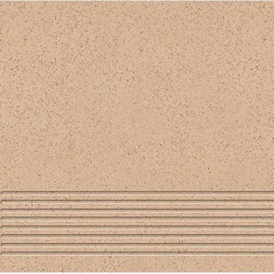 Gres techniczny stopnica KALLISTO K4 beż mat 29,7x29,7 gat. I