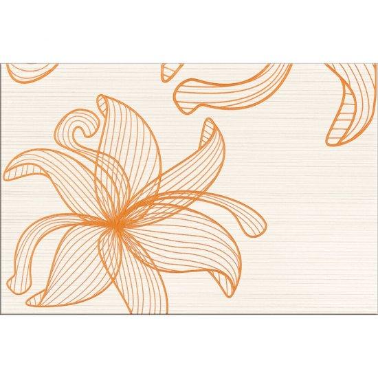 Płytka ścienna inserto LORENA cream orange kwiaty C glossy 30x45 gat. I