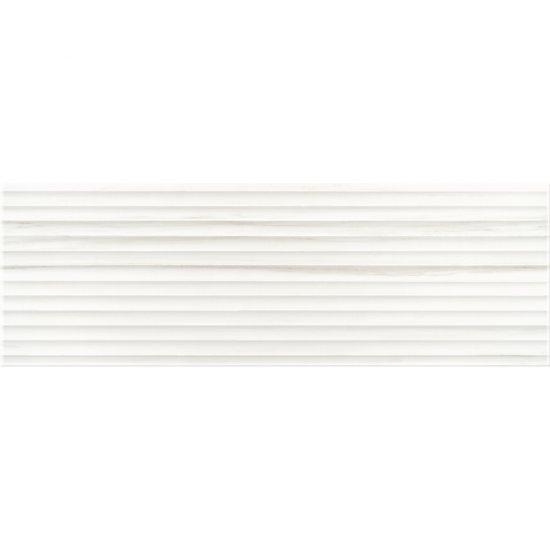 Płytka ścienna ARTISTIC WAY white structure glossy 25x75 gat. I