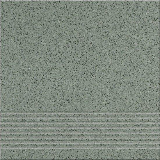 Gres techniczny stopnica KALLISTO K7 zielony mat 29,7x29,7 gat. I