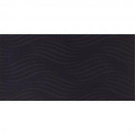 Płytka ścienna dekor ZURI black structure glossy 29,7x60 gat. II