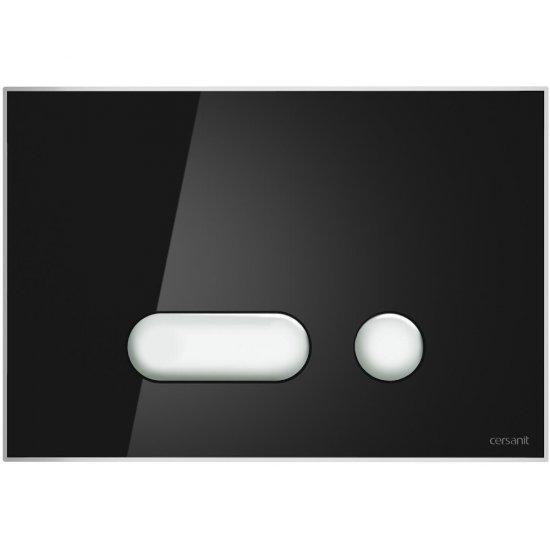 Przycisk spłukujący INTERA do stelaża LINK HIT HI-TEC szkło czarny
