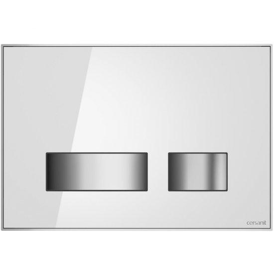 Przycisk spłukujący MOVI do stelaża LINK HIT HI-TEC szkło biały