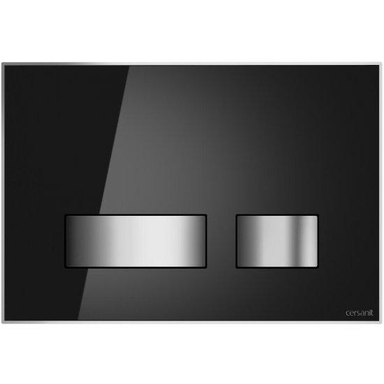 Przycisk spłukujący MOVI do stelaża LINK HIT HI-TEC szkło czarny