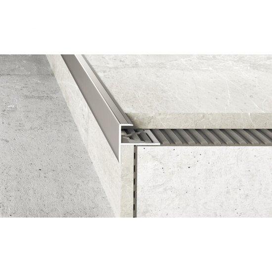 Profil schodowy do glazury A85 inox 2,5 m EFFECTOR