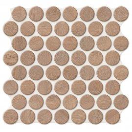 Gres szkliwiony hiszpański Realonda CIRCLE WALNUT 30,9x30,9 gat. I