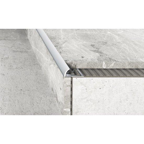 Profil krawędziowy owalny A53 srebrny 8 mm 2,5 m EFFECTOR