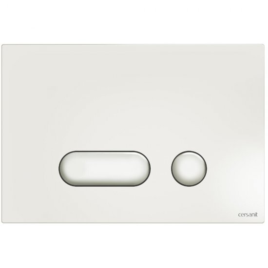 Przycisk spłukujący INTERA biały