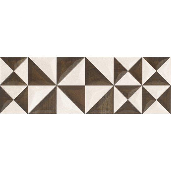 Płytka ścienna inserto GEOMETRICA beige-brown geo glossy 25x75 gat. I