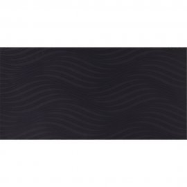 Płytka ścienna dekor ZURI black structure glossy 29,7x60 gat. I