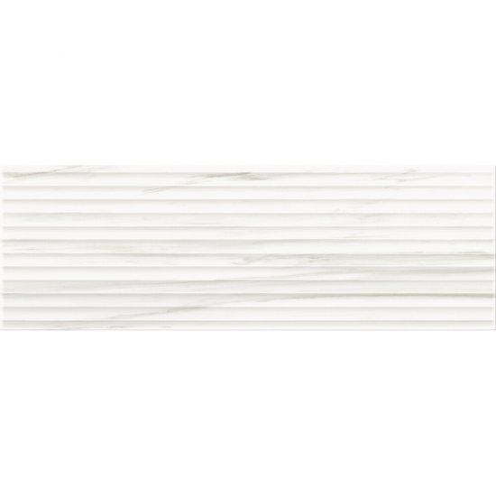 Płytka ścienna ARTISTIC WAY white structure glossy 25x75 gat. II