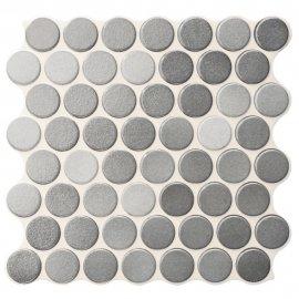Gres szkliwiony hiszpański Realonda CIRCLE GLOSSY grey 30,9x30,9 gat. I