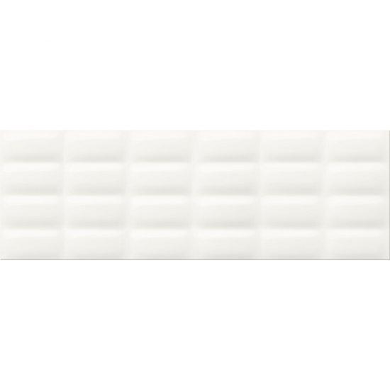 Płytka ścienna WHITE MAGIC white structure glossy pillow 25x75 gat. II