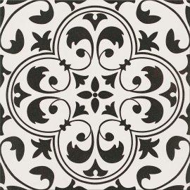 Gres szkliwiony PATCHWORK CONCEPT white-black naomi satin 29,8x29,8 gat. II