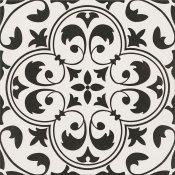 Gres szkliwiony PATCHWORK CONCEPT white-black naomi satyna 29,8x29,8 gat. II