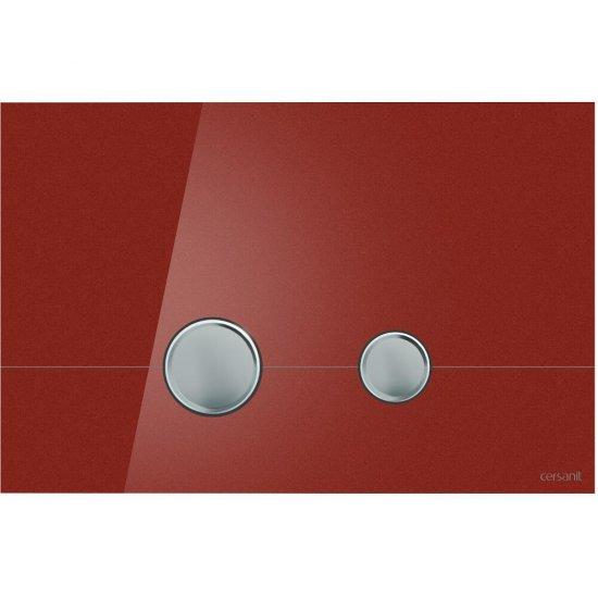 Przycisk spłukujący STERO szkło czerwone