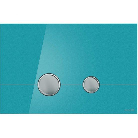 Przycisk spłukujący STERO szkło azure