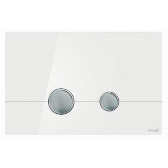 Przycisk spłukujący STERO szkło białe