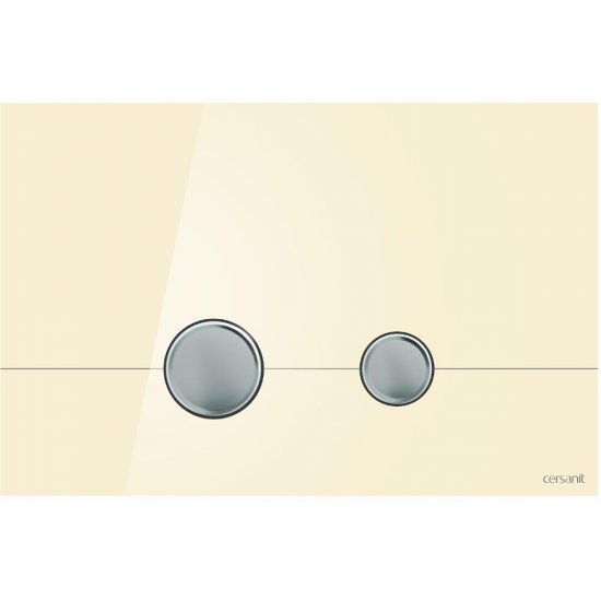 Przycisk spłukujący STERO szkło ecru