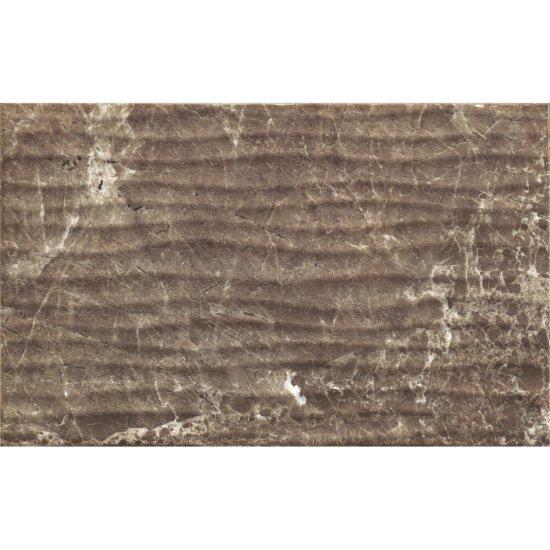 Płytka ścienna PIEDRA brown structure glossy 25x40 gat. II
